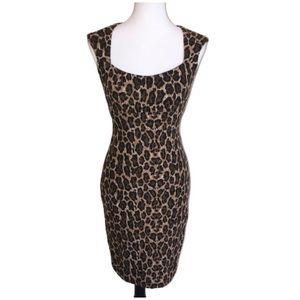 Cache Cheetah Leopard Print Dress Size Small